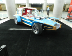 The Calico Surfer designed by the late George Barris, the creator of the original Batmobile.