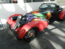 A million-dollar DiMora Motorcar is a work of art with a reproduction artwork on the hood (the...