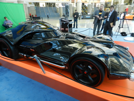 "A lifesize ""Car"" Vader at the Hot Wheels booth."