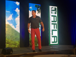 Navy Seal David Rutherford gave the opening keynote address.