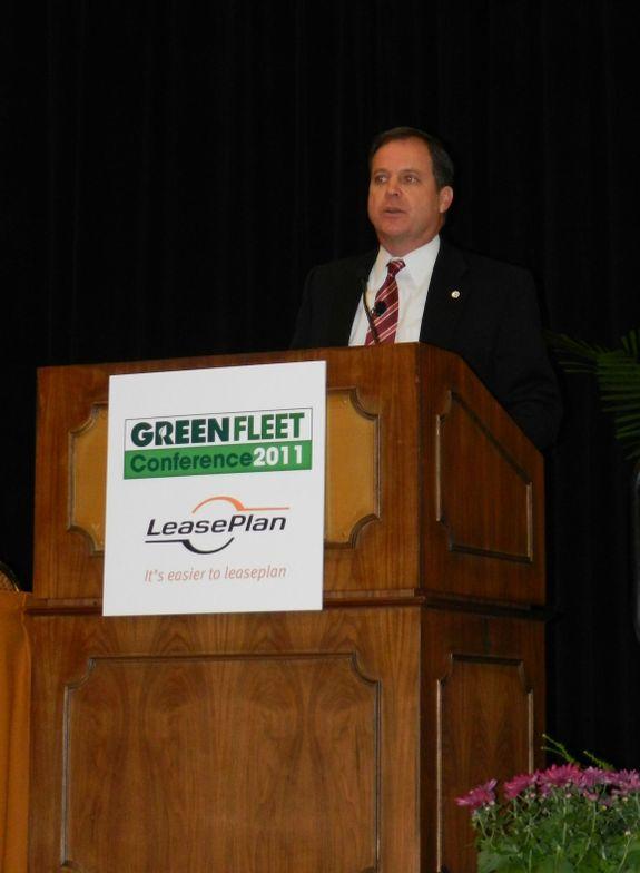 Monday's keynote speaker, John Schaaf of Johnson Controls, spoke about the company's battery...