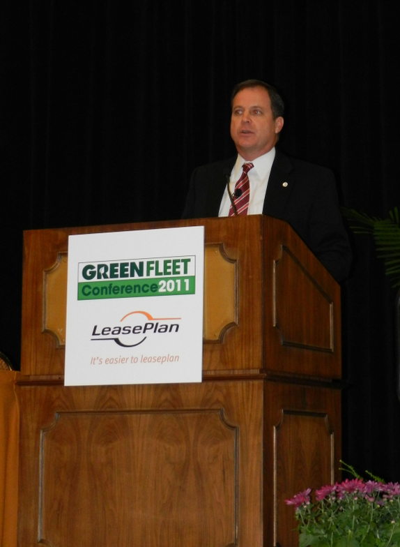 Monday's keynote speaker, John Schaaf of Johnson Controls, spoke about the company's battery...