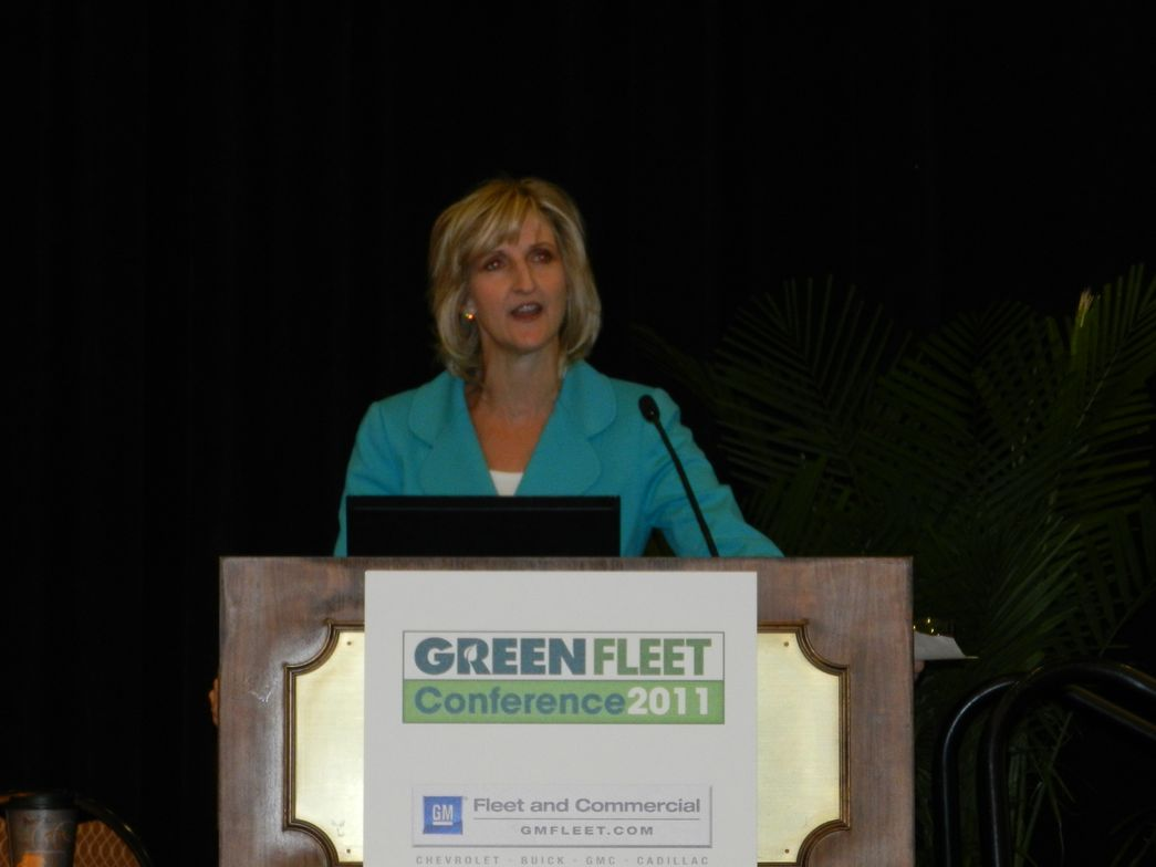 Britta Gross of General Motors gave a keynote speech on Tuesday about the importance of alt-fuel...
