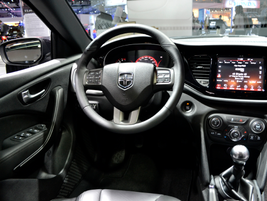The Dart features a 7-inch customizable display and an 8.4-inch touchscreen Media Center.