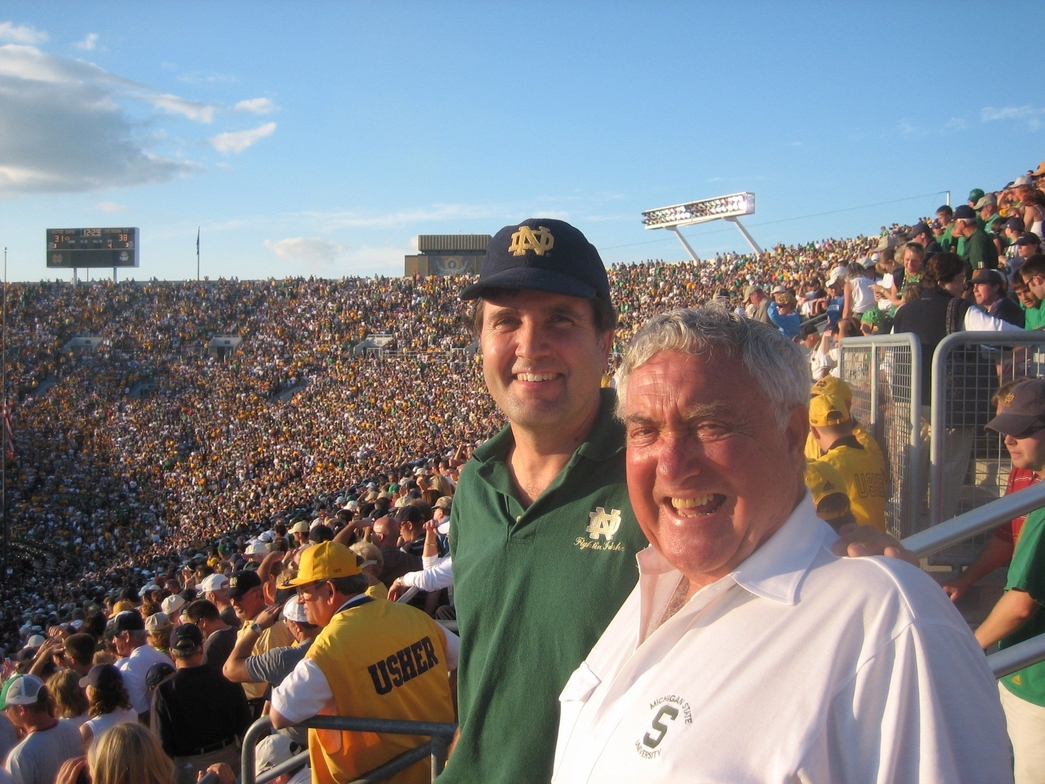 Aside from his family and the company, Ed lived to root for MSU and attended many games every...