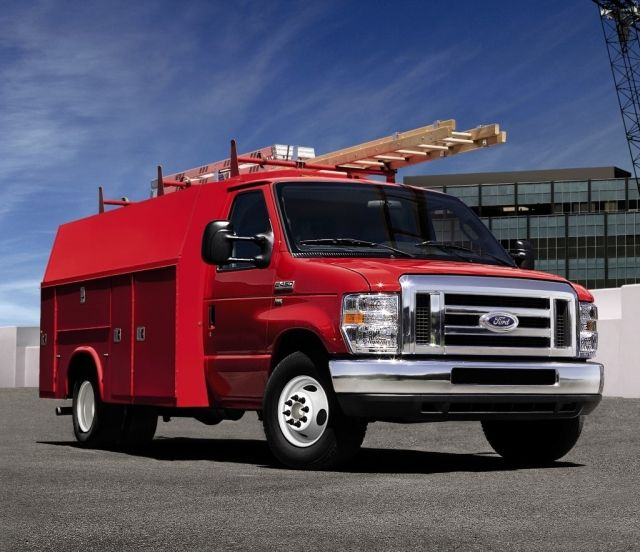 Ford's E-Series will be available in 2018 as either the cutaway or stripped chassis with...