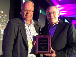 Dave Nagy (right), senior VP, North American sales and service for Emkay, accepted the Fleet...