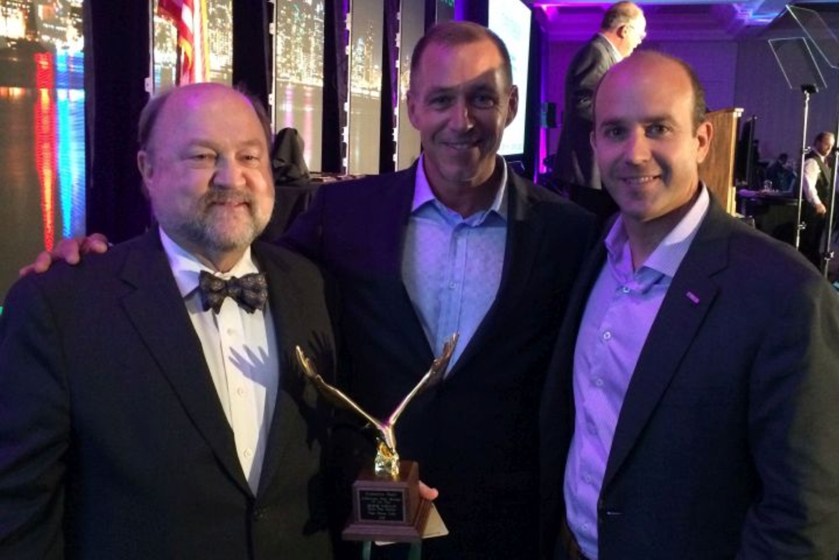 (l. to r.) 2016 Professional Fleet Manager of the Year George Survant, Automotive Fleet's Sherb...