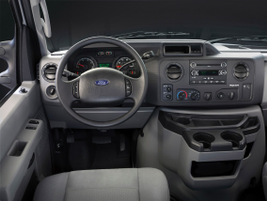 Here's a look at the standard interior on the 2014 vans without the optional driver information...