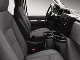 Maximizing the driver and passenger space, the van comes standard with several cup holders and...