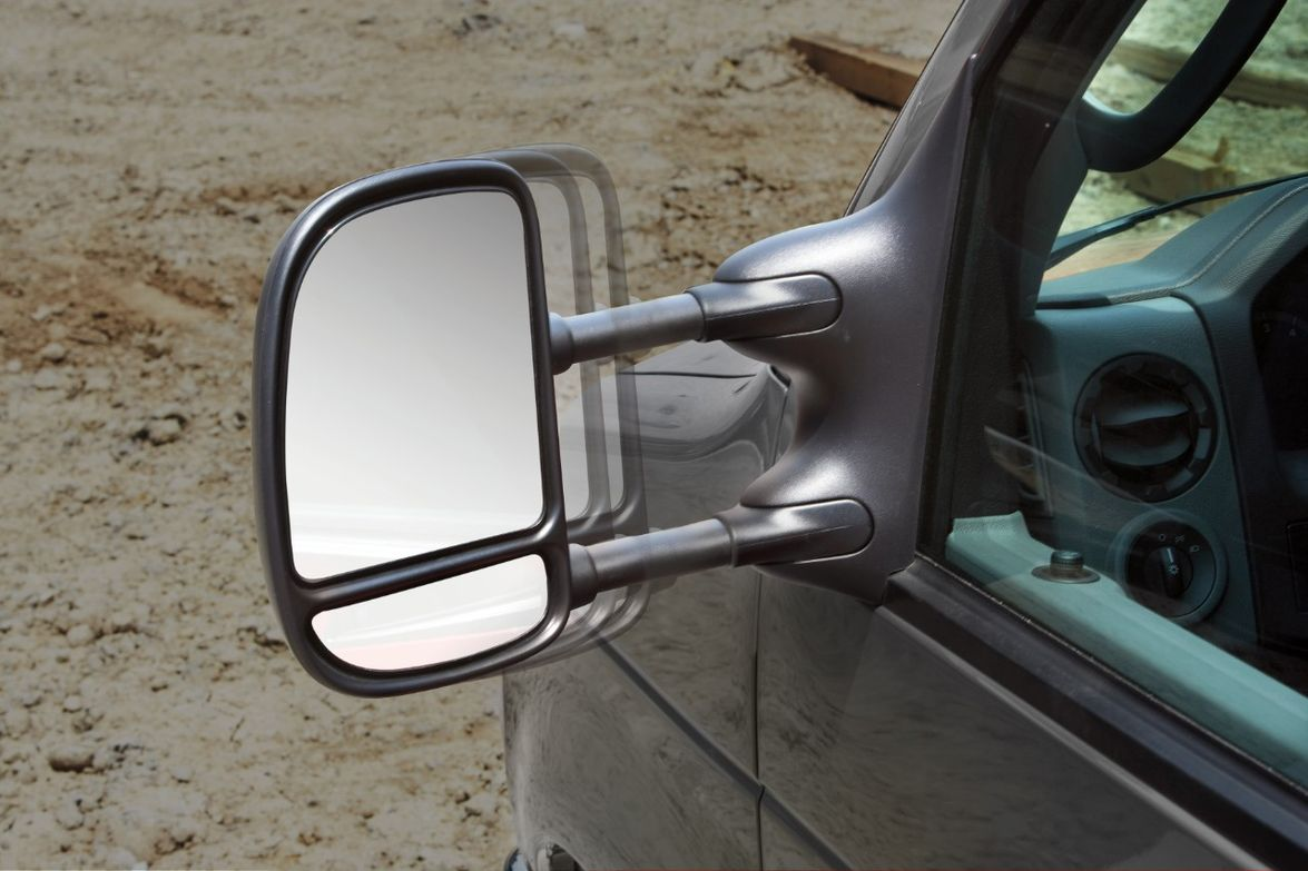 These standard mirrors have manually adjustable flat glass and a manual convex spotter to help...