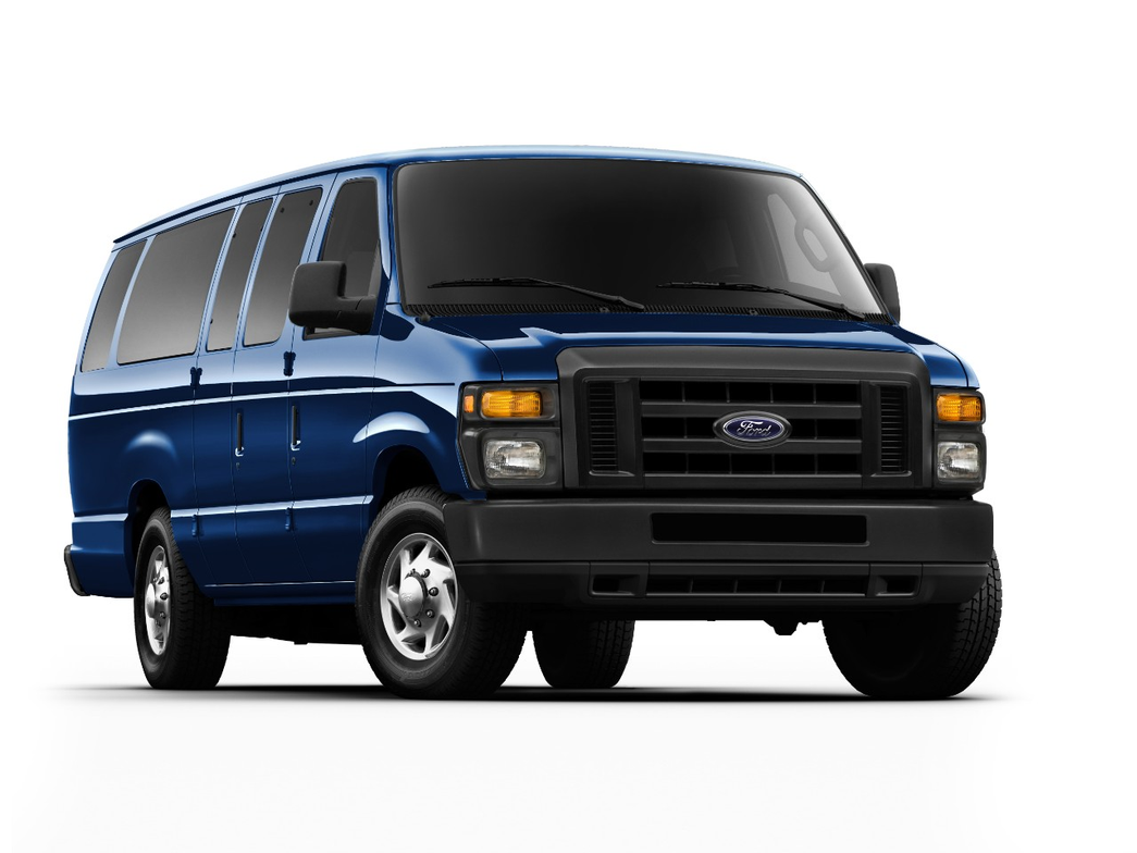 This is the extended wheelbase version of the E-350 passenger van that can seat up to 15 people.