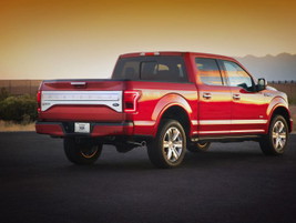 By extensively using aluminum, Ford is reducing the curb wieght by 15%, or 700 pounds.