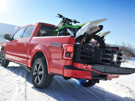 The truck will offer remote tailgate release, so drivers can drop the tailgate from the cockpit.