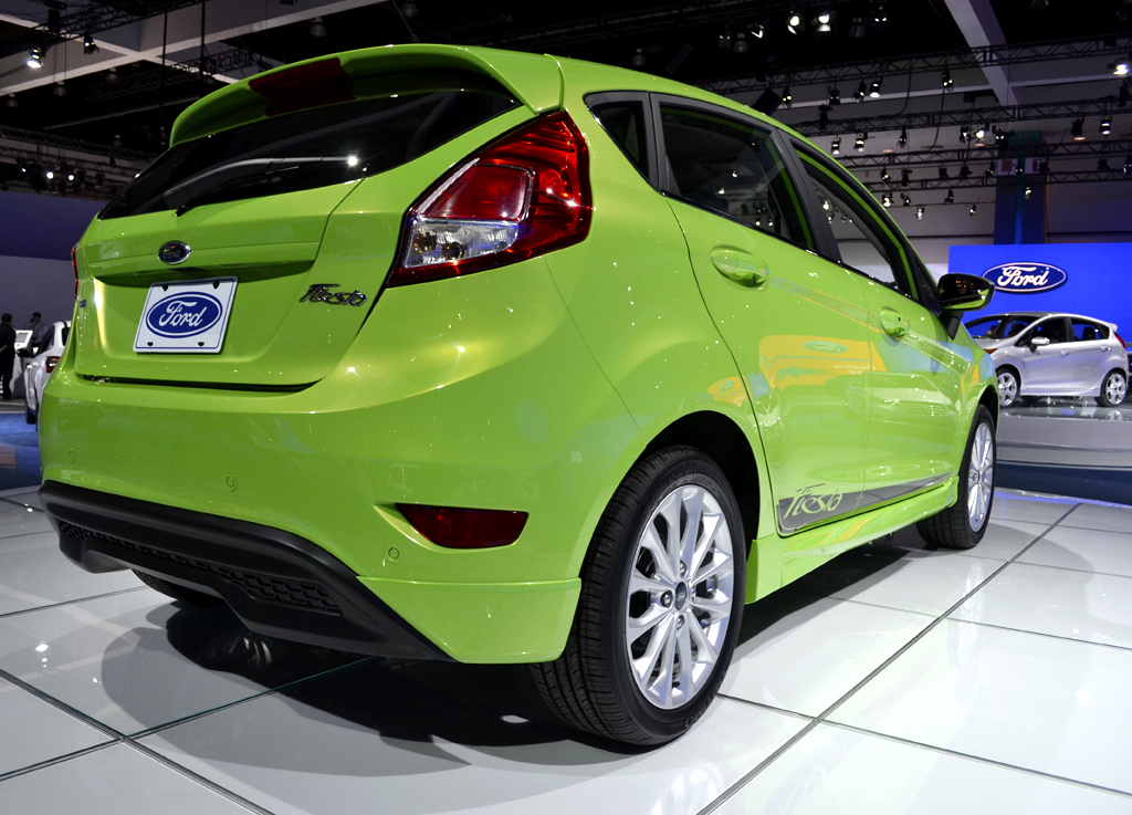 Pictured here is the hatchback version of the 2014-MY Ford Fiesta. It offers 14.9 cu. ft. of...