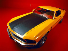 This 1969 Mustang Boss 302 arrived in Schoolbus Yellow.