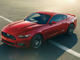 The 2015 Mustang will be offered in three trim levels including the V-8 GT shown here with the...