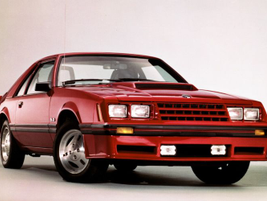 From 1979 to '86, the Mustang had a triangle-shaped front clip and four headlights referred to...