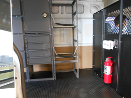 Another view inside the Transit's cargo area.