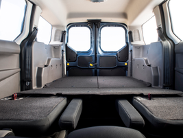 The longer wheelbase provides additional cargo volume, when the seats are folded down.