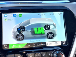A10.3-inch center dash screen displays abattery life indicator.