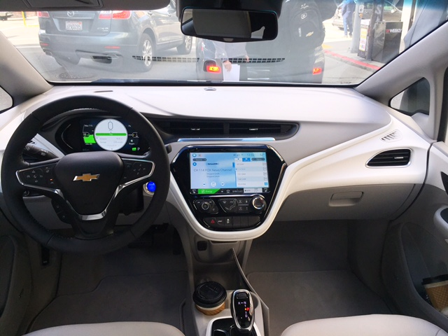 The Bolt EV's cabin includes two digital displays that provide extensive vehicle operating data.