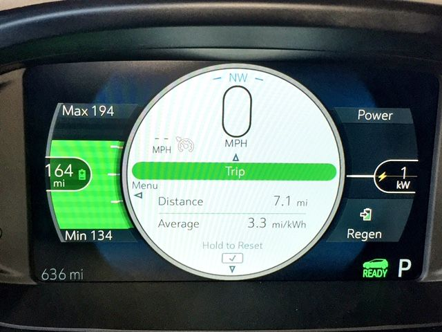 One screen shows power output on the right and a trio of range numbers on the left, including...