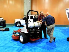 Exmark Ultracut S-series mower fueled by propane autogas