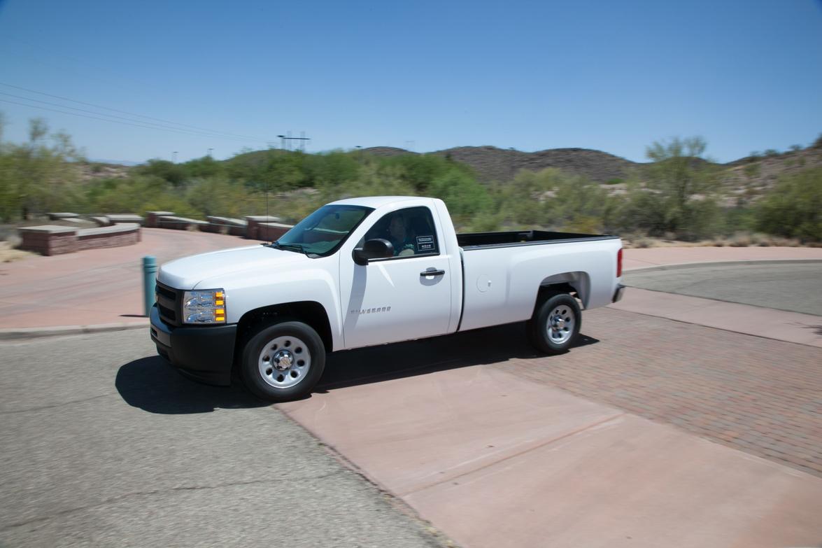 A Chevrolet Silverado pickup truck.