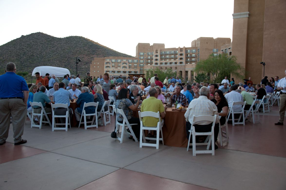 Attendees had an opportunity to network and get a bite to eat during the product preview event.