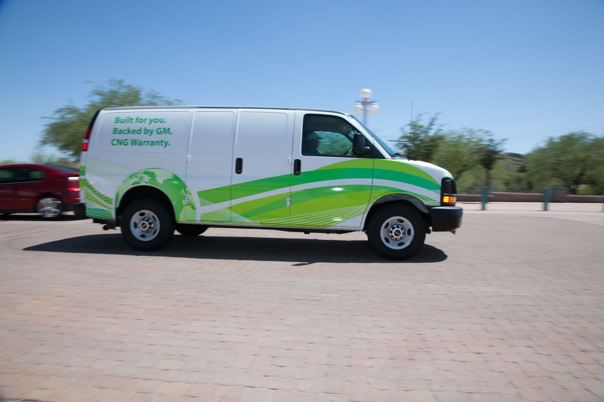 New features on the 2013 Chevrolet Express van include a rear-vision camera, rear park assist,...