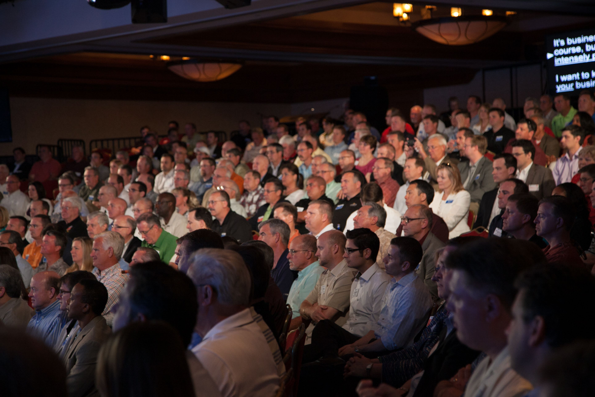 Th GM Fleet Preview attracted a large crowd. Approximately 1,000 people attended the event.