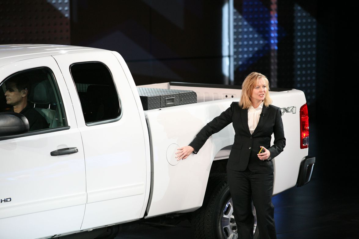 Joyce Mattman, director commercial product and specialty vehicles, (above and left) introduced...