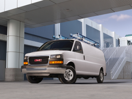 The Chevrolet Express and GMC Savana (pictured) van lineup for 2018 will be offered with two...
