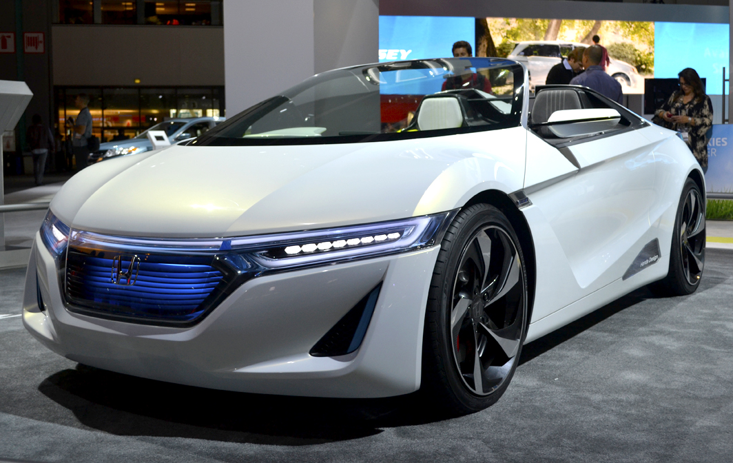 Honda also showed their EV-ster electric sports car concept at the show.