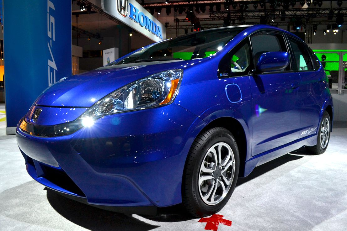 Honda showed its Fit EV at the event. This model will be available for lease only in California...