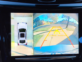 The Surround Vision system provides a 360-degree view by piecing together images from four...