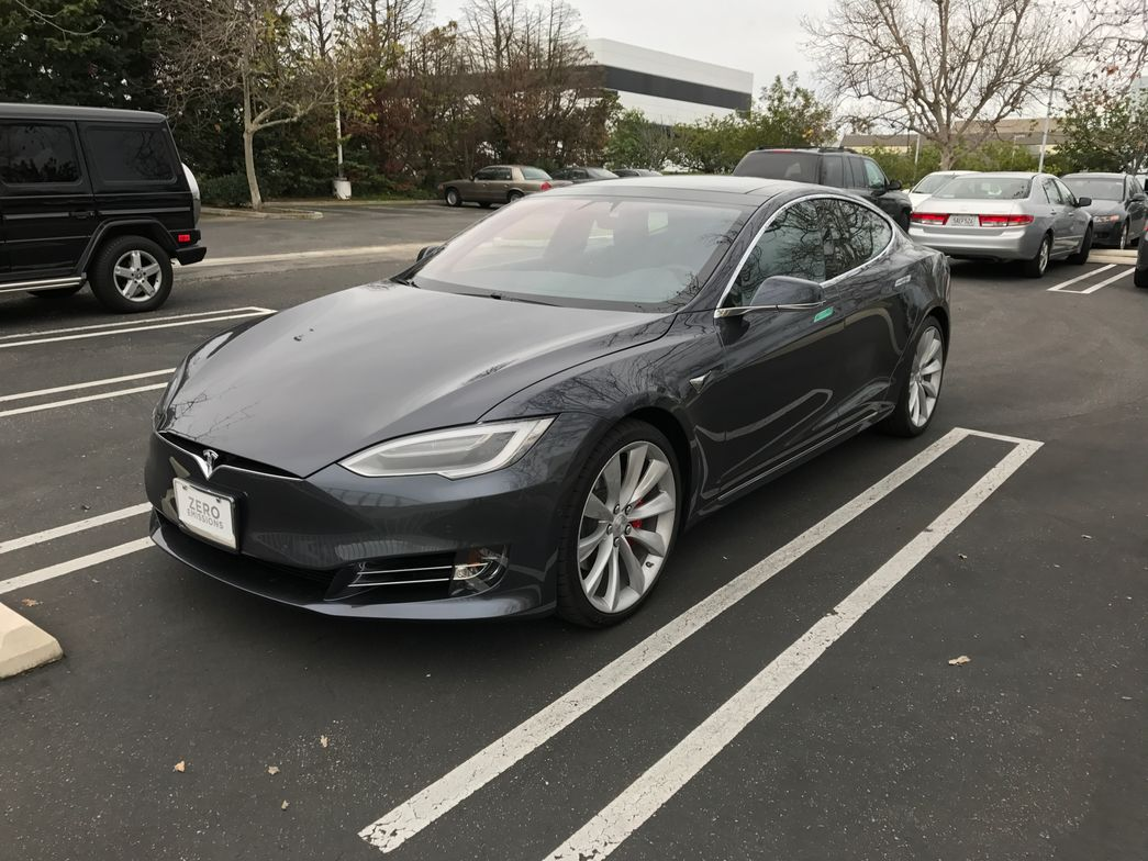 The Model S is 196 inches long, 86.2 inches wide, and has a wheelbase of 116.5 inches.