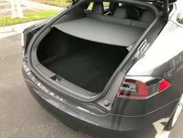 The Model S has a rear cargo volume of 26.3 cubic feet, which can expand to 58.1 cubic feet with...