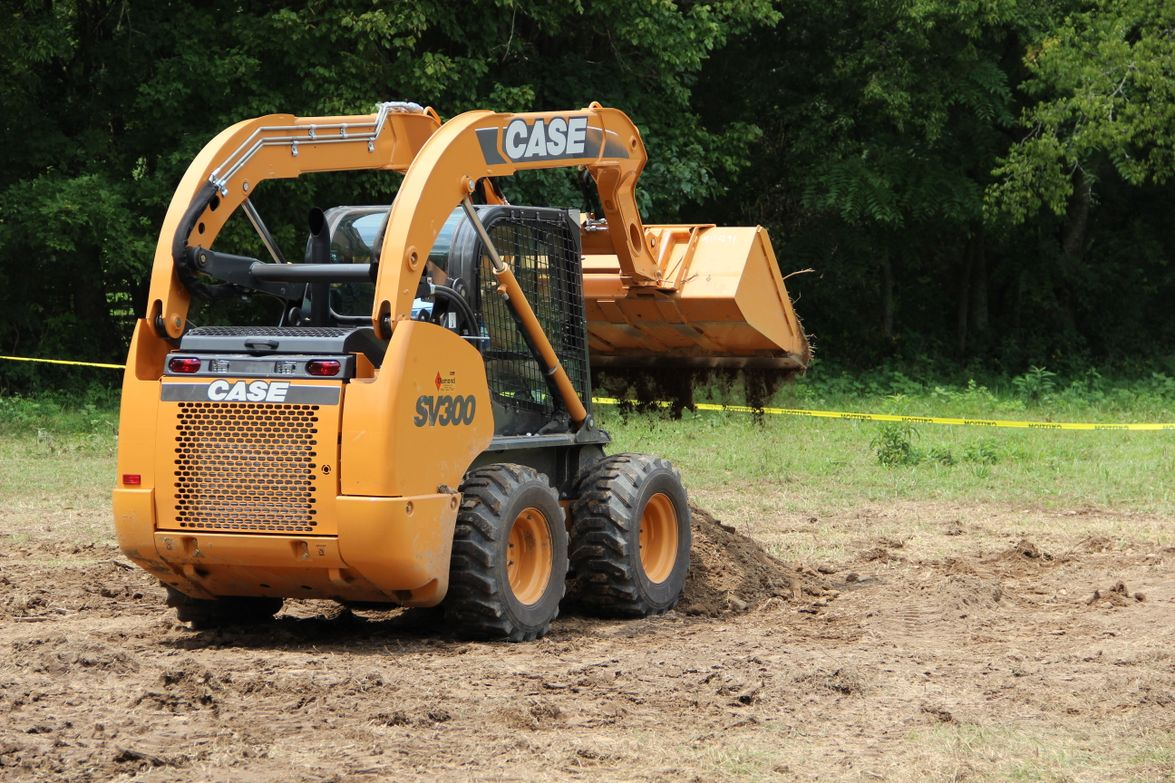 """Media was invited to """"play in the dirt"""" and test-drive some Case skid-steer tractors. Source:..."""