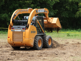 "Media was invited to ""play in the dirt"" and test-drive some Case skid-steer tractors. Source:..."