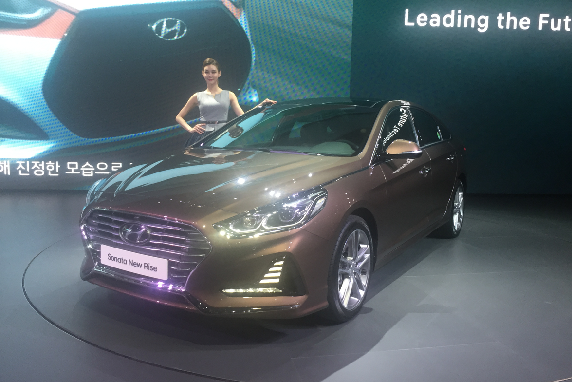 Hyundai prominently displayed the redesigned 2018 Sonata (above) at the Seoul Motor Show. Other...