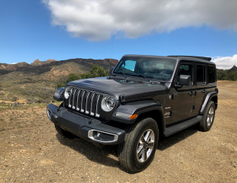 The Sahara is the more city-driving Wrangler with its larger wheels and smaller tires.