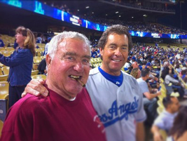 Ed and Ty Bobit at an LA Dodgers game.