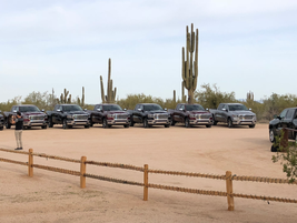 The Ram 1500 media event included opportunities to drive all Ram 1500 trim levels both on-road...