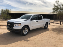 The all-new 2019 Ram 1500 Tradesman is available in two cab styles -- Quad Cab and Crew Cab --...
