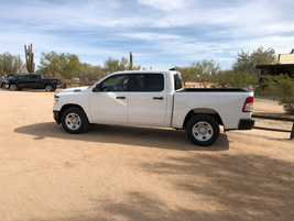 Using high-strength steels, composites, and aluminum, the 2019 Ram 1500 reduced its weight by...