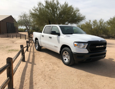 The Ram 1500 offers up to 2,300 pounds of payload in the four-door Quad Cab configuration, which...