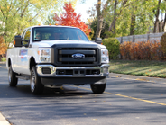 Landi-Renzo brought a natural gas Ford F-250. Photo by Lauren Fletcher.
