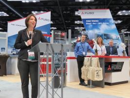 Mitsubishi Fuso Truck of America chief Jecka Glasman said electric Class 4 eCanter will be a...
